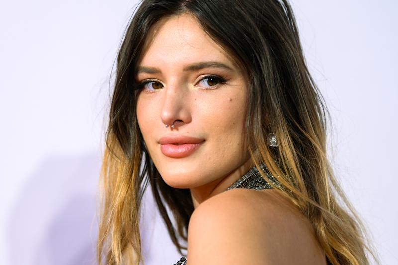 11 September 2019, Lower Saxony, Oldenburg: Bella Thorne, actress from the USA, stands on the red carpet during the opening gala of the Oldenburg International Film Festival. Photo: Mohssen Assanimoghaddam/dpa (Photo by Mohssen Assanimoghaddam/picture alliance via Getty Images)