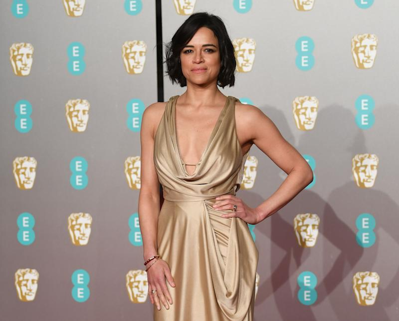 London (United Kingdom), 10/02/2019.- US actress Michelle Rodriguez attends the 72nd annual British Academy Film Awards at the Royal Albert Hall in London, Britain, 10 February 2019. The ceremony is hosted by the British Academy of Film and Television Arts (BAFTA). (Londres) EFE/EPA/NEIL HALL