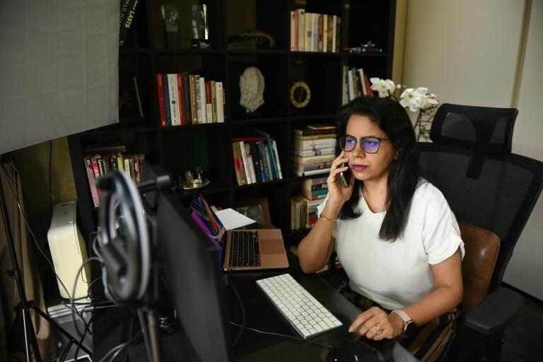 Devgan's Whatsapp volunteer group, which she runs from her study, has grown to some 257 members