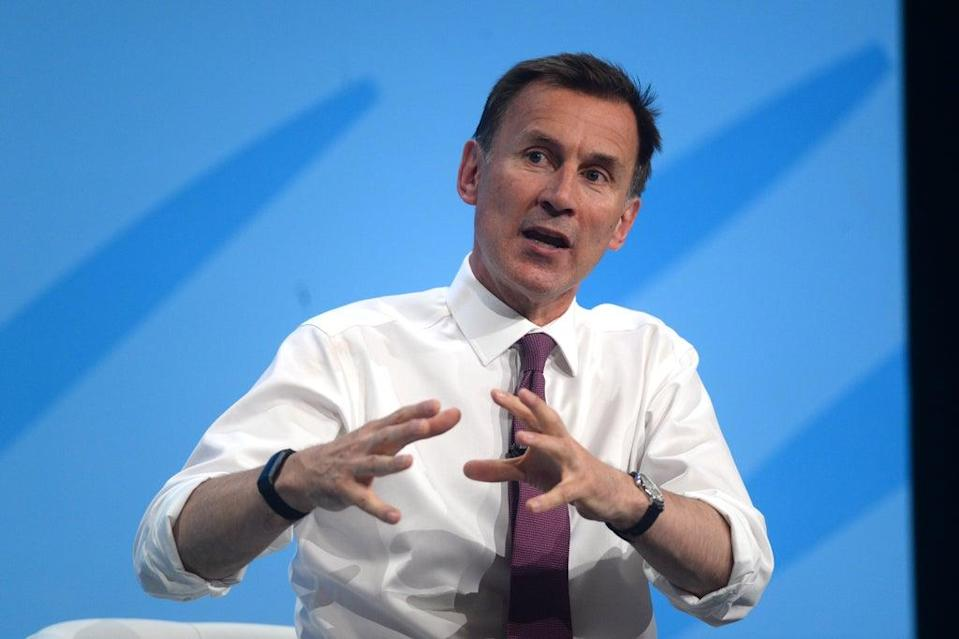 Former health secretary Jeremy Hunt said politicians should 'get on' with a booster rollout (Kirsty O'Connor/PA) (PA Wire)