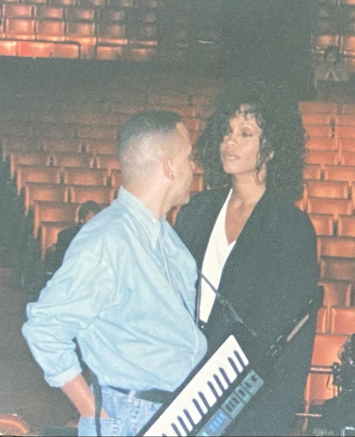 Minor and Houston are pictured during a rehearsal. (Courtesy Rickey Minor)