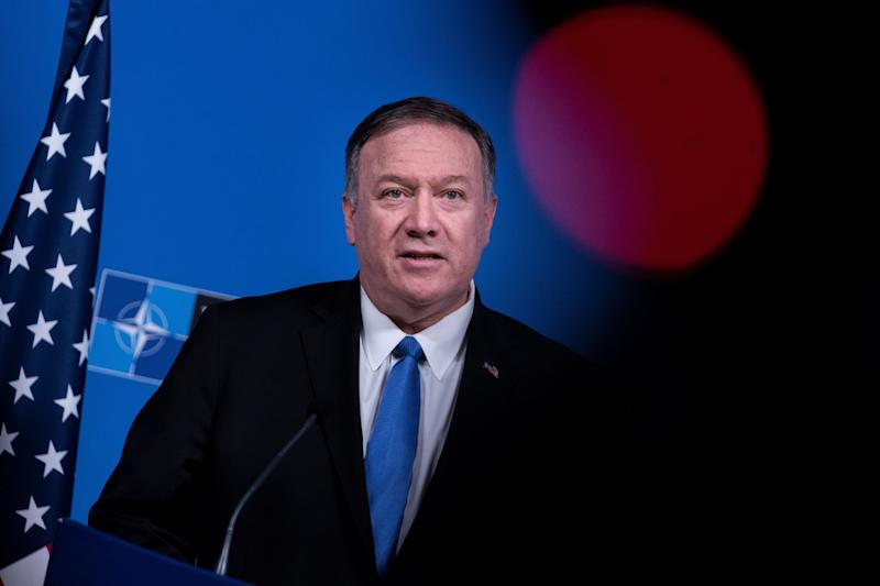 U.S. Secretary of State Mike Pompeo speaks during a press conference at a Foreign ministers meeting at the NATO headquarters in Brussels on Nov. 20, 2019. (Photo: Kenzo Tribouillard/AFP via Getty Images)
