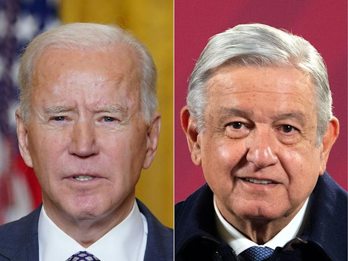 """President Joe Biden attends his second """"virtual"""" summit with a foreign leader on Monday when he meets his Mexican counterpart Andres Manuel Lopez Obrador."""