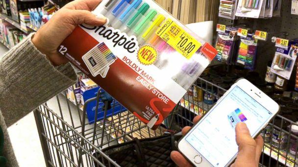 PHOTO: During her own experiment of buying high and selling low, which aired on 'Good Morning America,' tech contributor Becky Worley found a set of Sharpie pens marked down to $10. On Amazon, they are selling for $17.89. (ABC)