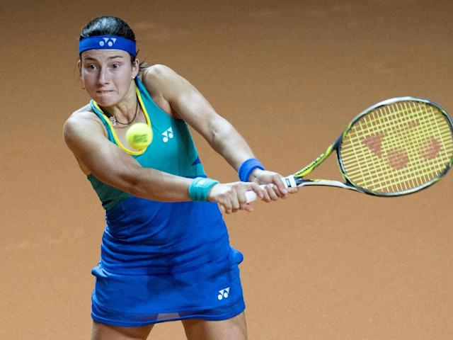 Sevastova clinched a surprise victory against the British No 1 (Getty)