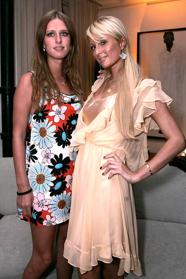 "Sisters Nicky and Paris Hilton always have time to party. Chris Weeks/<a href=""http://www.wireimage.com"" target=""new"">WireImage.com</a> - May 31, 2007"
