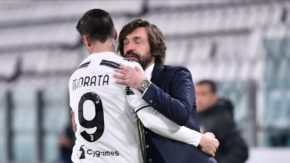 Alvaro Morata e Andrea Pirlo | Stefano Guidi/Getty Images