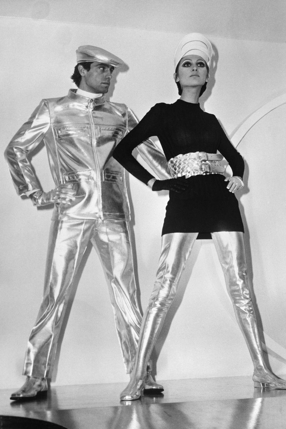 <p>Let us all be grateful in knowing that the fashion of the future never actually ended up looking like this. These metallic skin-tight pants are nobody's friend. </p>