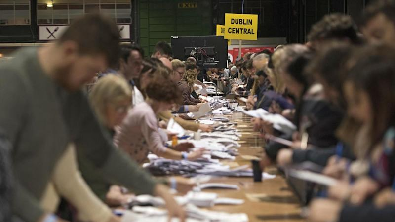 Counting has begun in the Irish general election where an exit poll points to a political deadlock