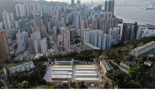 A quarantine camp has also been built at Lei Yue Mun Park and Holiday Village. Photo: Martin Chan