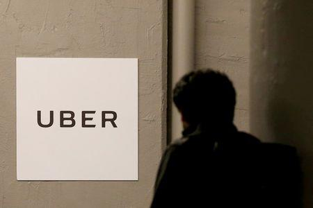 FILE PHOTO: A man arrives at the Uber offices in Queens, New York, U.S. on February 2, 2017.  REUTERS/Brendan McDermid/File Photo