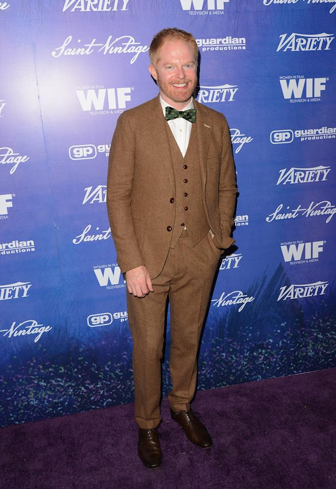 Actor Jesse Tyler Ferguson arrives at Variety and Women in Film Pre-EMMY Event presented by Saint Vintage at Montage Beverly Hills on September 21, 2012 in Beverly Hills, California.  (Photo by Jason Merritt/WireImage)