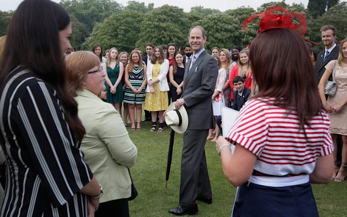 Prince Edward during a day of presentations for the Duke of Edinburgh award, in 2018 - AP