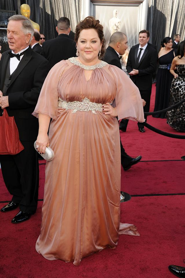 Melissa McCarthy arrives at the 84th Annual Academy Awards in Hollywood, CA.