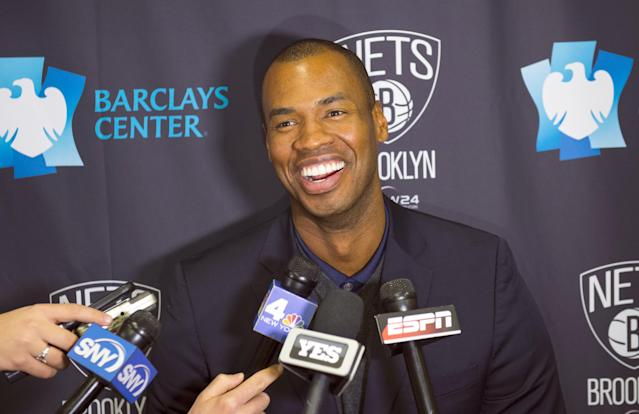 Longtime Nets center Jason Collins announced that he tested positive for the coronavirus. (Photo By: Corey Sipkin/NY Daily News via Getty Images)