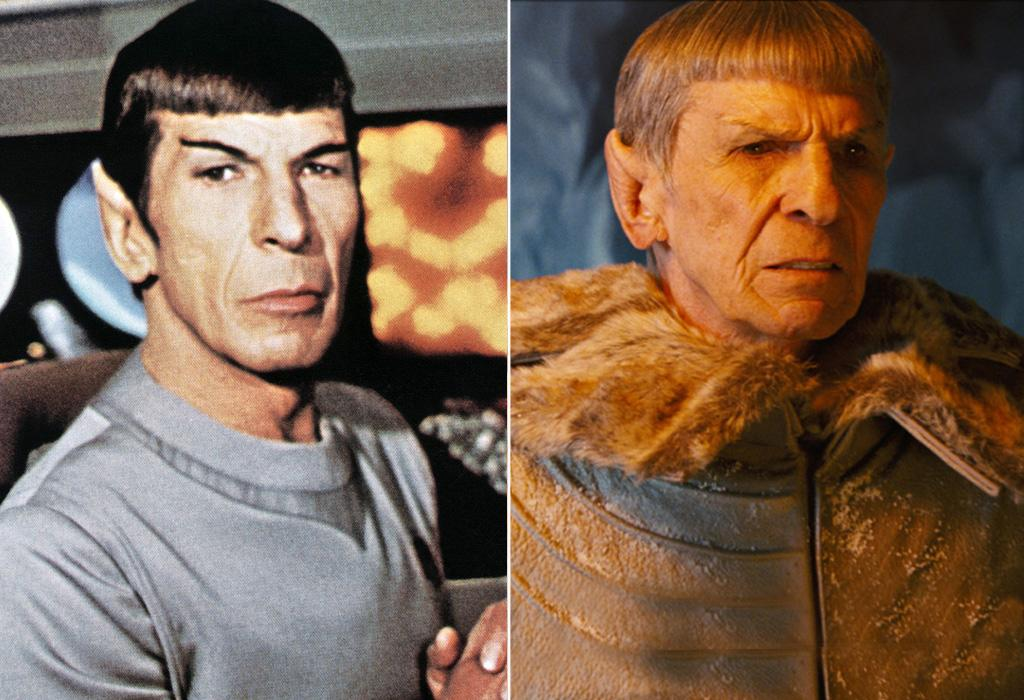 """FIRST MOVIE: <a href=""""http://movies.yahoo.com/movie/1800121143/info"""">Star Trek: The Motion Picture</a> (1979)  LATEST MOVIE: <a href=""""http://movies.yahoo.com/movie/1809752801/info"""">Star Trek</a> (2009)   """"Star Trek"""" the TV show was canceled in 1969, but Nimoy put his pointy ears back on 10 years later for the first movie, and another 30 years after that for the new one."""