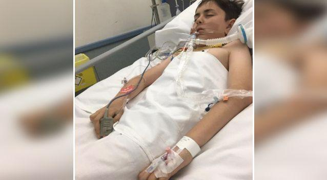 13-year-old Chase came close to dying from alcohol poisoning. Photo: Facebook / Jo Owen