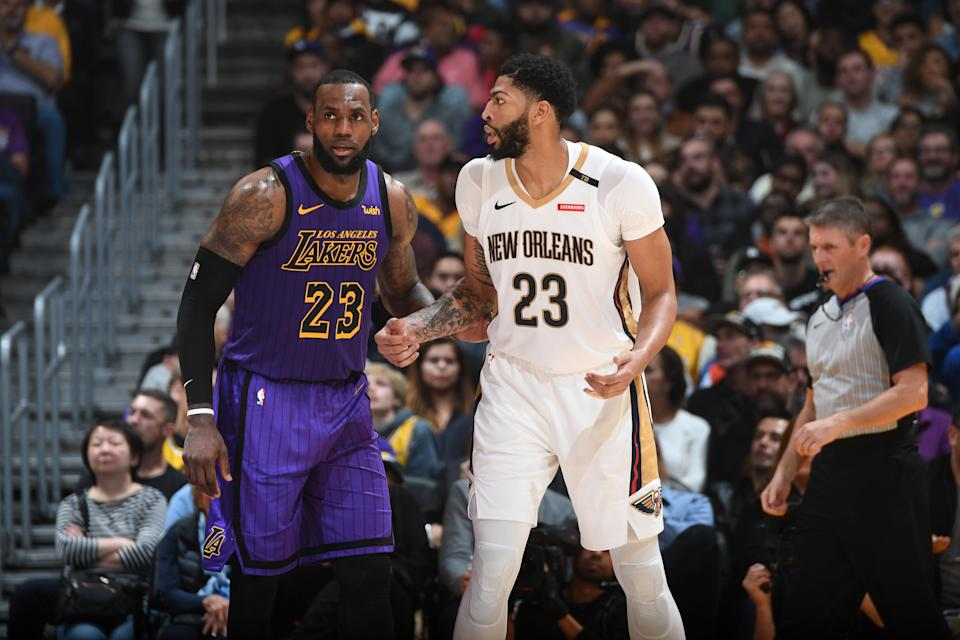 LeBron James and Anthony Davis would be a formidable pairing. (Photo by Andrew D. Bernstein/NBAE via Getty Images)