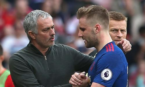 """<span class=""""element-image__caption"""">Is the on-off love affair between José Mourinho and Luke Shaw set to end in tears … and millions of pounds for Manchester United this summer?</span> <span class=""""element-image__credit"""">Photograph: Matthew Peters/Man Utd via Getty Images</span>"""