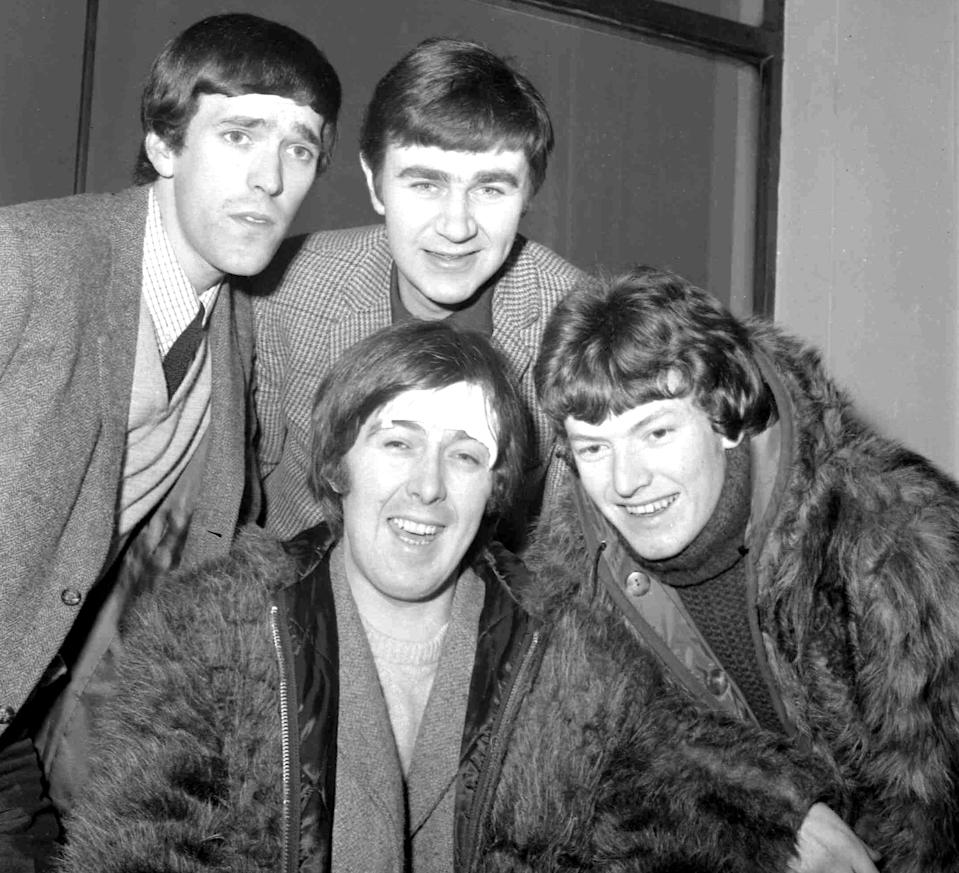 Members of the Spencer Davis Group were, from top left: Muff Winwood, Pete York and Steve Winwood and Spencer Davis, foreground. Davis has died at the age of 81.