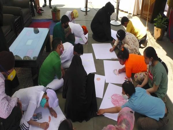 Visuals of the ongoing drawing competition organized by Indian Army at Baramulla (Photo/ANI)