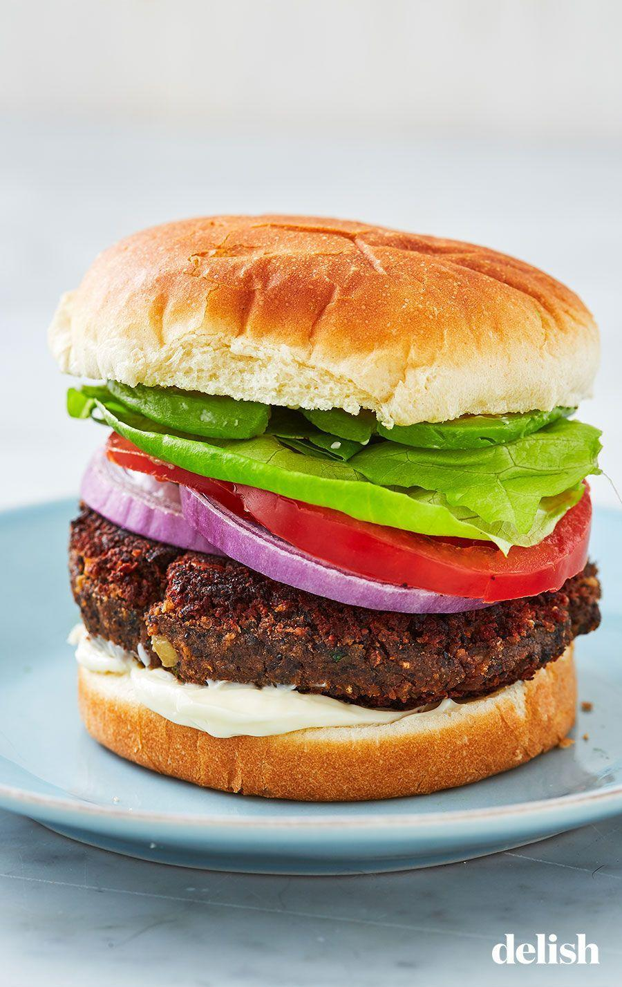 """<p>Once you make your own, you'll never go back to boxed.</p><p>Get the recipe from <a href=""""https://www.delish.com/cooking/recipe-ideas/recipes/a5658/black-bean-burgers-recipe/"""" rel=""""nofollow noopener"""" target=""""_blank"""" data-ylk=""""slk:Delish"""" class=""""link rapid-noclick-resp"""">Delish</a>.<br></p>"""