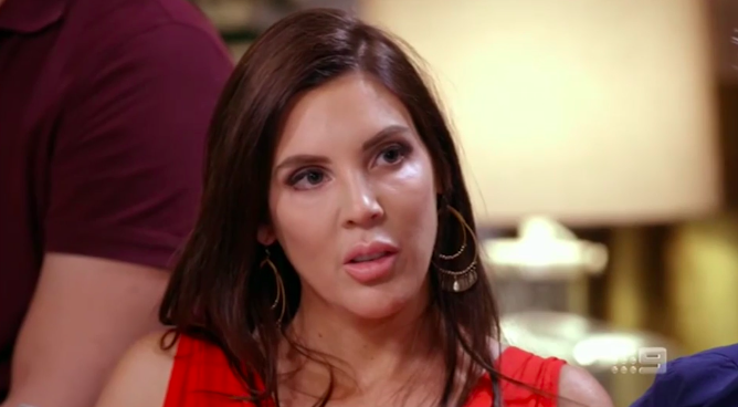 Tracey's face when Dean accused her of sexting him while she was with Sean.  Photo