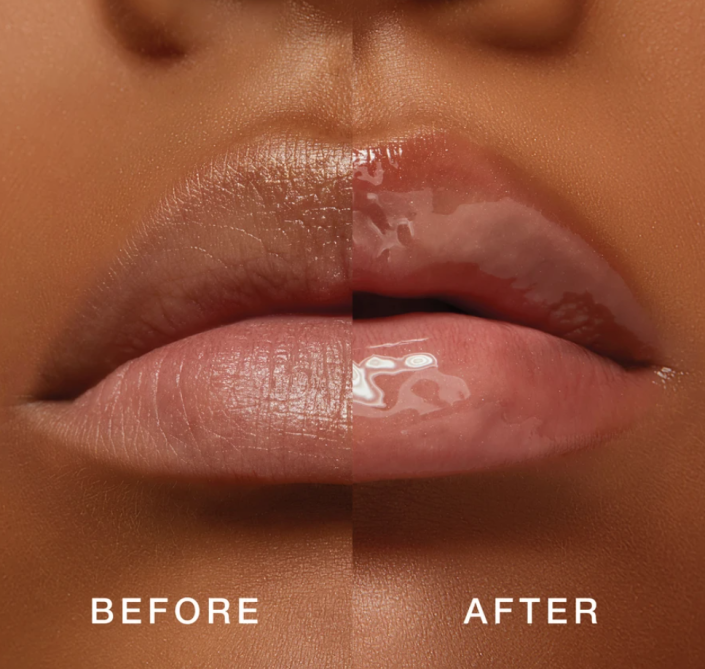 Noticeable results after applying Lawless Beauty's Forget The Filler Lip Plumper Line Smoothing Gloss