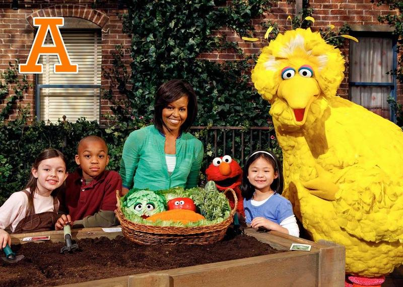"A is for Anniversary: <a href=""/sesame-street/show/33526"">""Sesame Street""</a> celebrates its 40th anniversary on Tuesday, November 10, with first lady <a href=""/michelle-obama/contributor/2444168"">Michelle Obama</a> teaching the kids how to garden, part of the show's new nature curriculum and ""Healthy Habits for Life"" initiative. The 40th season also features a new version of the theme song, a new CGI look for Abby Cadabby, and a new broadcasting format. <a href=""http://www.zap2it.com/"" rel=""nofollow"">Source: Zap2it</a>"