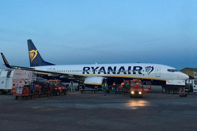 Off limits? A Ryanair aircraft at Trieste in northeast Italy: Simon Calder
