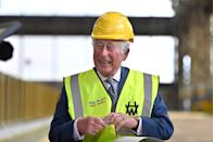 <p>This photo of Prince Charles smiling was captured during his visit to the Harland & Wolff shipyard in Belfast, Northern Ireland. He was there to celebrate the shipyard's 160th anniversary.</p>