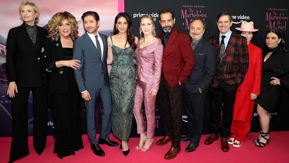 Mandatory Credit: Photo by Marion Curtis/StarPix for Amazon/Shutterstock (10491203k)Cast of 'The Marvelous Mrs.