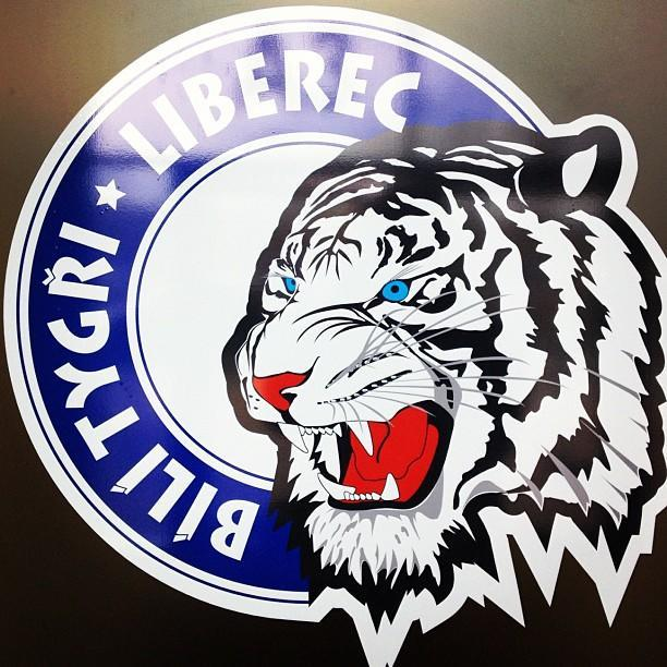 Czech League's Liberec White Tigers logo. (#NickInEurope)