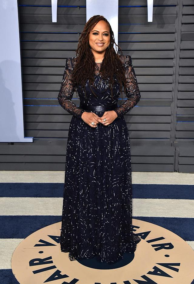 <p>The director of <em>A Wrinkle in Time</em> saw a screening of her film being crashed by Jimmy Kimmel and various celebrities during the Oscars telecast. (Photo: John Shearer/Getty Images) </p>