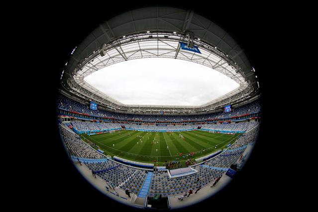Soccer Football - World Cup - Switzerland Training - Kaliningrad Stadium, Kaliningrad, Russia - June 21, 2018 General view during training REUTERS/Fabrizio Bensch