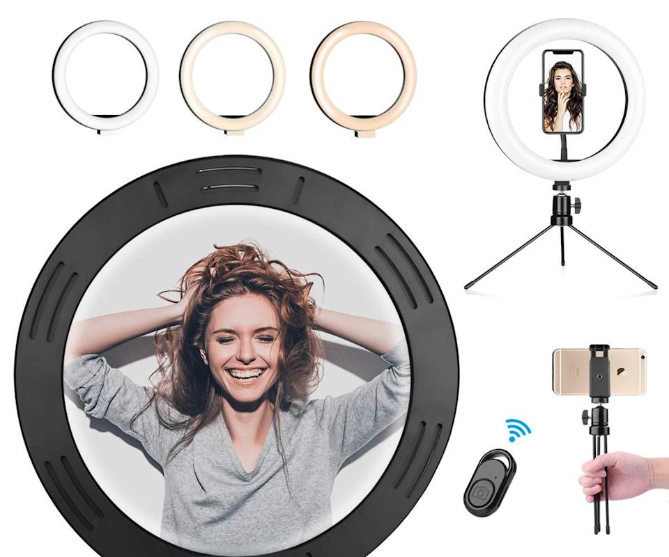 "<h2>10% Off LED Ring Light With Adjustable Tripod Stand</h2><br>According to our <a href=""https://www.refinery29.com/en-us/gen-z-holiday-gift-ideas"" rel=""nofollow noopener"" target=""_blank"" data-ylk=""slk:in-house Gen-Z expert, Alexandra Polk"" class=""link rapid-noclick-resp"">in-house Gen-Z expert, Alexandra Polk</a>, this currently on-sale ring light is grade-A gifting material for any 90s-born babies in your life — ""This is the perfect beginners kit for anyone interested in diving into the world of Youtube, Tik Tok, etc."" she explains. <br><br><strong>Btree</strong> LED Ring Light, $, available at <a href=""https://www.amazon.com/gp/product/B08CC4F9BZ"" rel=""nofollow noopener"" target=""_blank"" data-ylk=""slk:Amazon"" class=""link rapid-noclick-resp"">Amazon</a>"