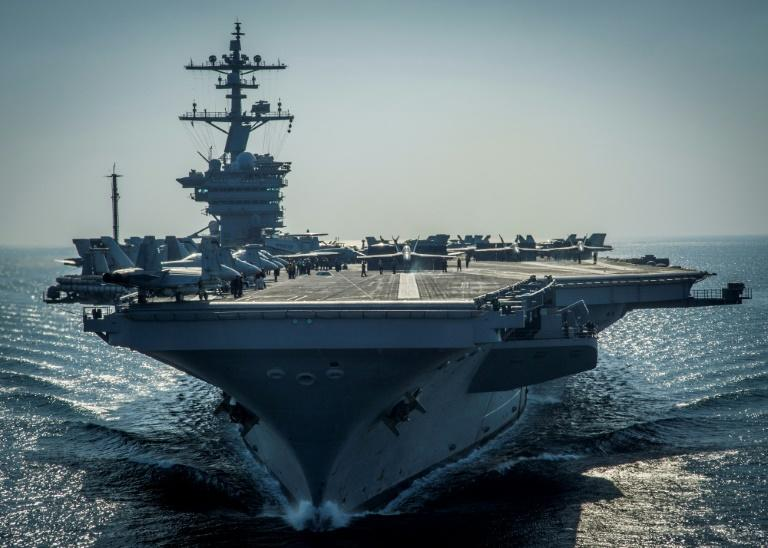 United States  aircraft carrier expected to reach Korean waters in late April
