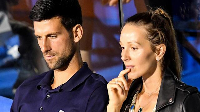 Novak Djokovic and wife Jelena both contracted coronavirus at the Adria Tour. (Photo by ANDREJ ISAKOVIC/AFP via Getty Images)