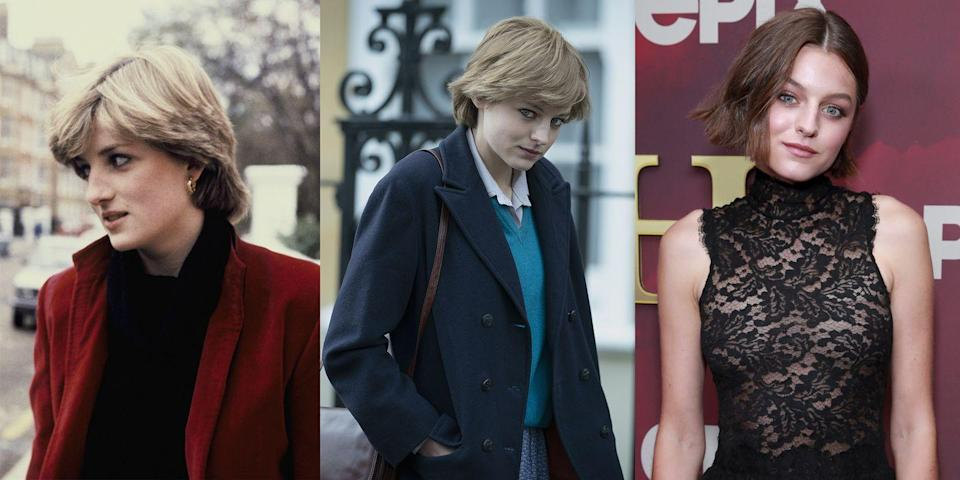 "<p>Actress Emma Corrin will portray the role of Princess Diana in Season 4 of <em>The Crown</em>. The newcomer told <a href=""https://www.instagram.com/p/CFzAJxKgPg6/?utm_source=ig_embed"" rel=""nofollow noopener"" target=""_blank"" data-ylk=""slk:Glass magazine"" class=""link rapid-noclick-resp""><em>Glass</em> magazine</a>, ""I needed to shut off all the noise that was saying, 'this is huge. It's her, how are you going to do this?'... It was terrifying."" The season will even show <a href=""https://www.harpersbazaar.com/culture/film-tv/a33950871/crown-emma-corrin-princess-diana-wedding-dress/"" rel=""nofollow noopener"" target=""_blank"" data-ylk=""slk:Diana's fairytale wedding"" class=""link rapid-noclick-resp"">Diana's fairytale wedding</a> to Prince Charles.</p>"