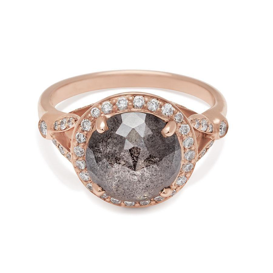"""<p>If the bride-to-be prefers a large diamond, the <a href=""""https://www.popsugar.com/buy/Luna-Ring-Rose-Gold-Rose-Cut-Grey-Diamond-398ct-530011?p_name=Luna%20Ring%20Rose%20Gold%20and%20Rose%20Cut%20Grey%20Diamond%203.98ct&retailer=annasheffield.com&pid=530011&price=10%2C280&evar1=fab%3Aus&evar9=44555978&evar98=https%3A%2F%2Fwww.popsugar.com%2Fphoto-gallery%2F44555978%2Fimage%2F47001584%2FLuna-Ring-Rose-Gold-Rose-Cut-Grey-Diamond-398ct&list1=wedding%2Cjewelry%2Crose%20gold%2Cengagement%20rings&prop13=api&pdata=1"""" rel=""""nofollow noopener"""" class=""""link rapid-noclick-resp"""" target=""""_blank"""" data-ylk=""""slk:Luna Ring Rose Gold and Rose Cut Grey Diamond 3.98ct"""">Luna Ring Rose Gold and Rose Cut Grey Diamond 3.98ct</a> ($10,280) is a great option.</p>"""