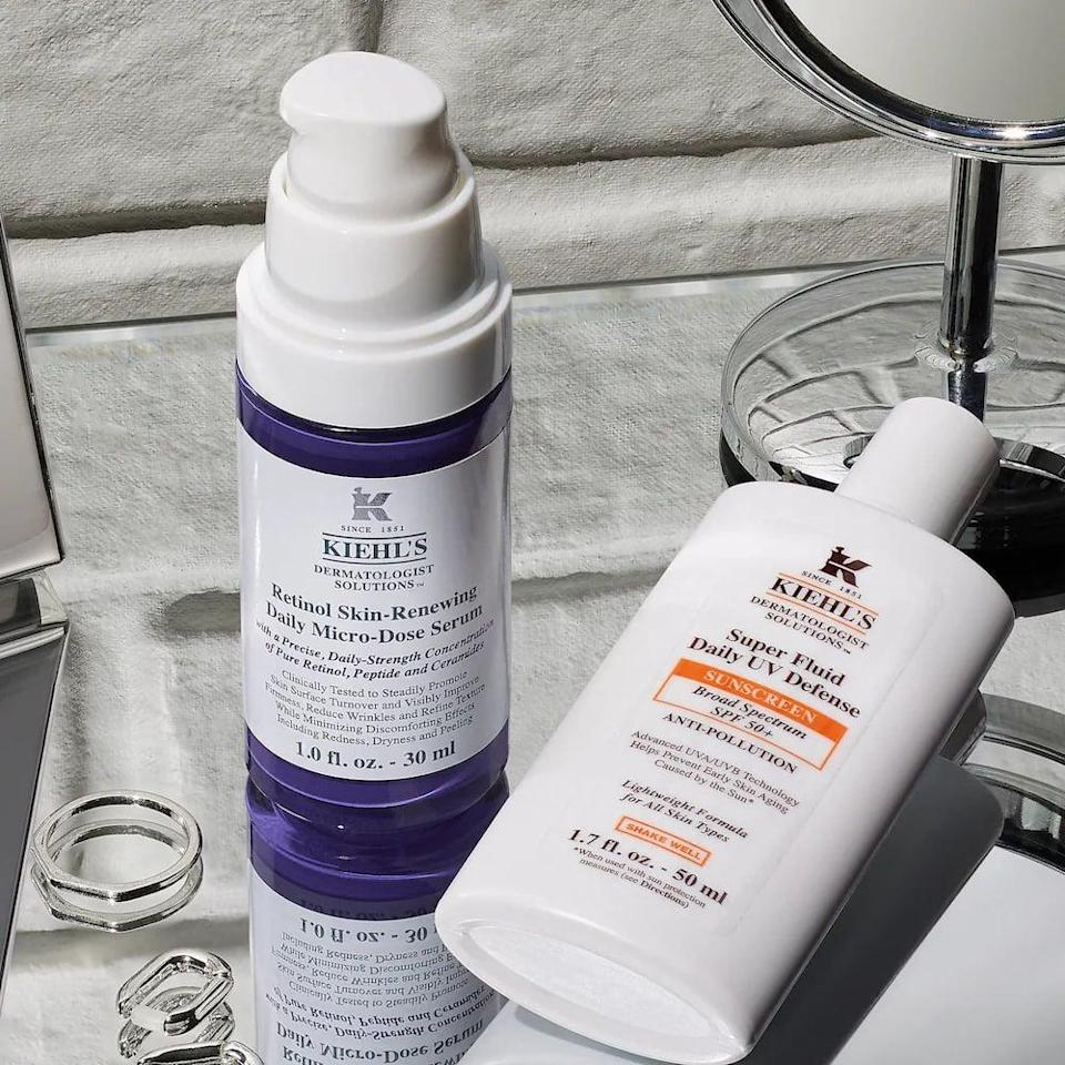 <p>The great thing about this <span>Kiehl's Micro-Dose Anti-Aging Retinol Serum with Ceramides and Peptides</span> ($60) is that it's made for daily use, which is less common with a retinol. The ceramides and peptides work to hydrate, which is always a good thing.</p>