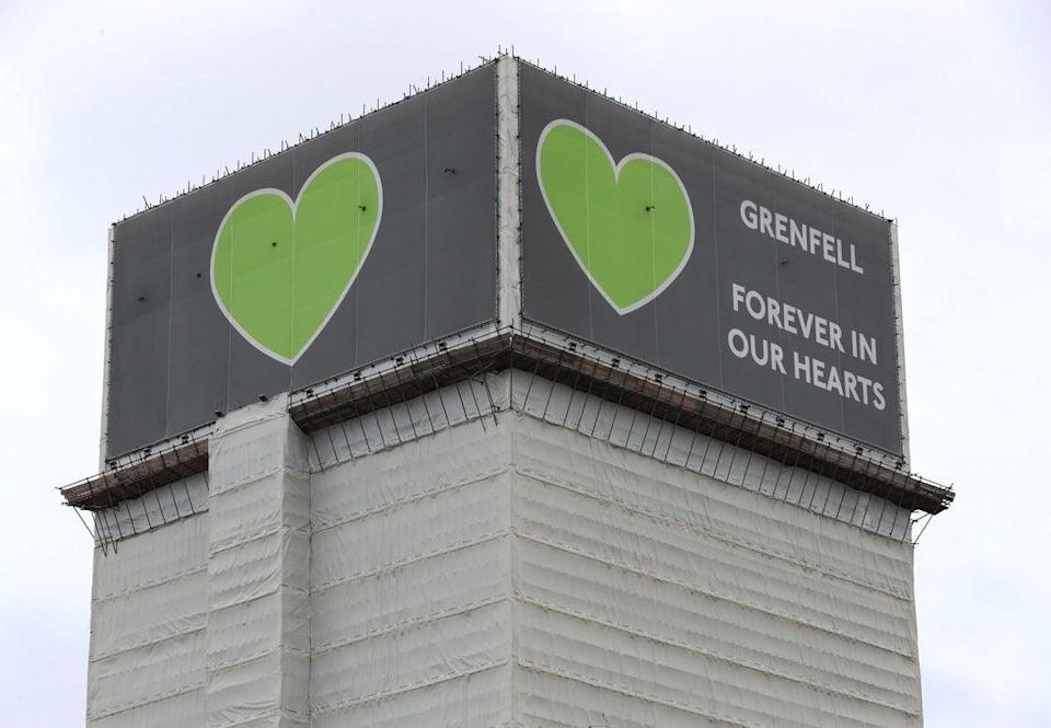 The 2019 inquiry found that the cladding acted as a 'source of fuel' for the fire  (PA)