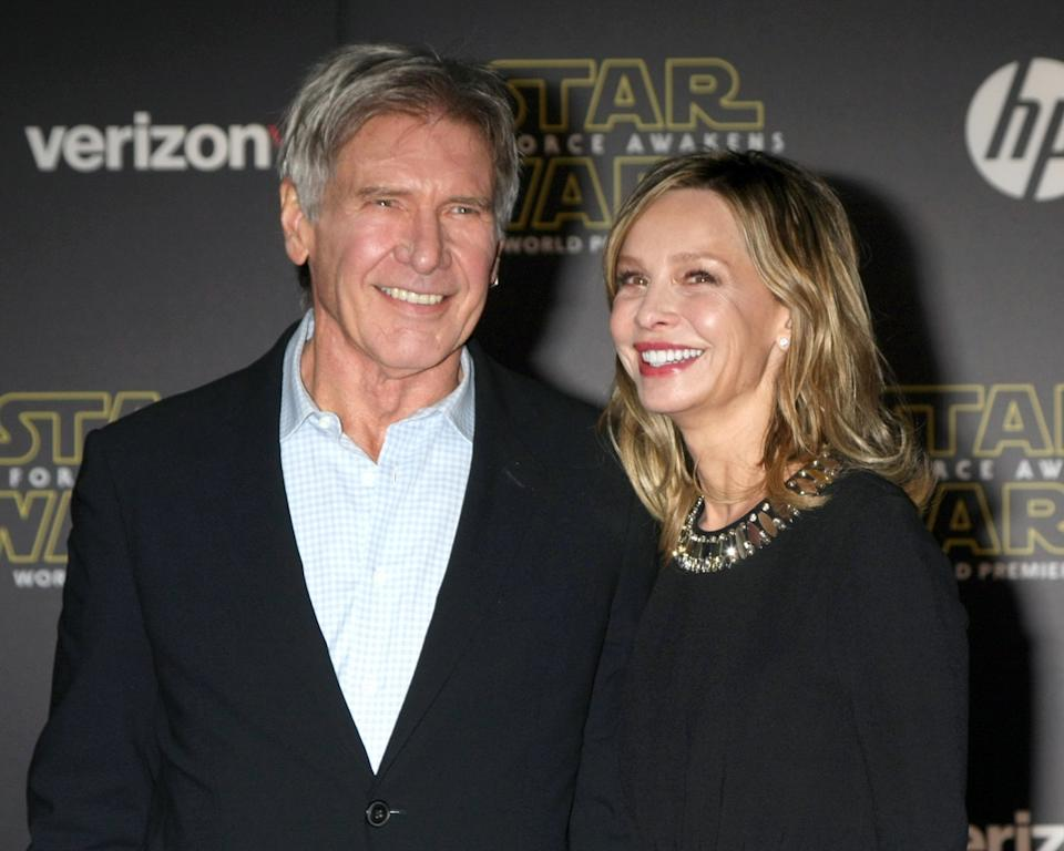 Harrison Ford and Calista Flockhart at the premiere of 'Star Wars: The Force Awakens' in 2015