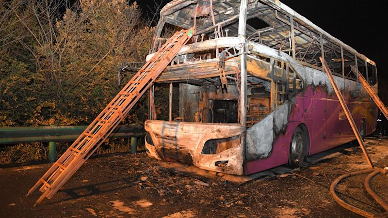 Central China bus blaze kills at least 26, injures 28