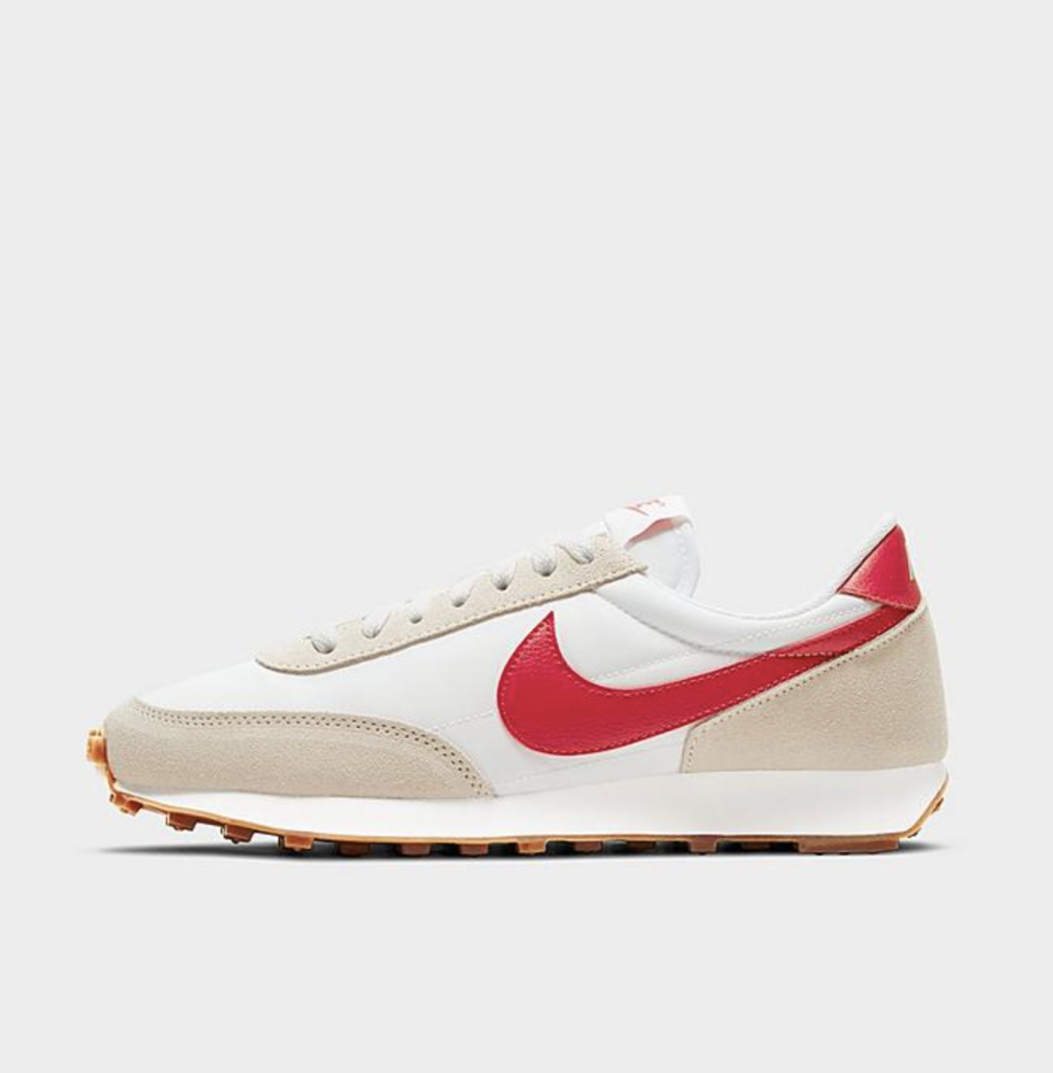 "<p><strong>Nike</strong></p><p>finishline.com</p><p><strong>$90.00</strong></p><p><a href=""https://go.redirectingat.com?id=74968X1596630&url=https%3A%2F%2Fwww.finishline.com%2Fstore%2Fproduct%2Fwomens-nike-daybreak-casual-shoes%2Fprod2792781&sref=https%3A%2F%2Fwww.cosmopolitan.com%2Fstyle-beauty%2Ffashion%2Fg35698753%2Fshop-hauliday-shoe-sale%2F"" rel=""nofollow noopener"" target=""_blank"" data-ylk=""slk:Shop Now"" class=""link rapid-noclick-resp"">Shop Now</a></p><p><strong>Take $15 off $150 in select styles</strong></p><p>Love a throwback look? Opt for these Nike's with a bold red logo splashed across the side. </p>"