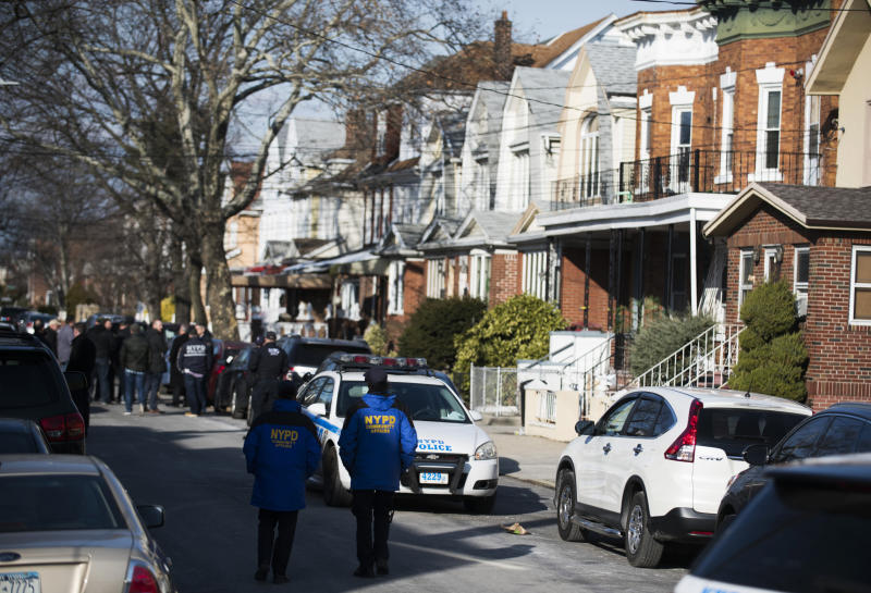 Police block off a street in Brooklyn, N.Y., where officials say suspect Akayed Ullah was living