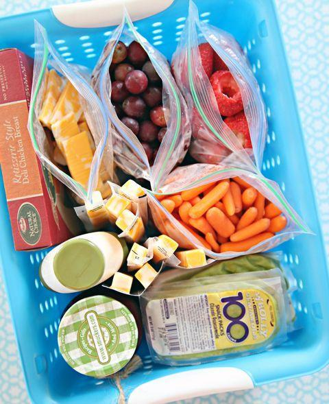 """<p>Whip up the kids' sammies in a flash by storing deli meats, cheeses, and spreads in a special fridge spot. Add pre-portioned fruits and veggies (divvied up on the weekend or the night before) for a faster grab-and-go station.</p><p><em><a class=""""link rapid-noclick-resp"""" href=""""http://www.iheartorganizing.com/2013/08/back-to-school-organization.html"""" rel=""""nofollow noopener"""" target=""""_blank"""" data-ylk=""""slk:See more on I Heart Organizing »"""">See more on I Heart Organizing »</a></em></p>"""