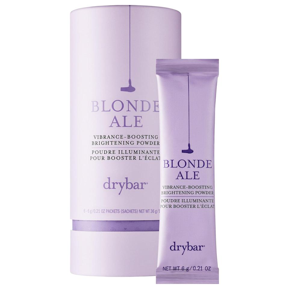 """<p>This <a href=""""https://www.popsugar.com/buy/Drybar-Blonde-Ale-Vibrance-Boosting-Brightening-Powder-575445?p_name=Drybar%20Blonde%20Ale%20Vibrance-Boosting%20Brightening%20Powder&retailer=sephora.com&pid=575445&price=30&evar1=bella%3Aus&evar9=47486817&evar98=https%3A%2F%2Fwww.popsugar.com%2Fbeauty%2Fphoto-gallery%2F47486817%2Fimage%2F47486845%2FDrybar-Blonde-Ale-Vibrance-Boosting-Brightening-Powder&prop13=api&pdata=1"""" class=""""link rapid-noclick-resp"""" rel=""""nofollow noopener"""" target=""""_blank"""" data-ylk=""""slk:Drybar Blonde Ale Vibrance-Boosting Brightening Powder"""">Drybar Blonde Ale Vibrance-Boosting Brightening Powder</a> ($30) features ascorbic acid and lemon fruit powder to brighten highlights. When mixed with water, it forms a paste to also remove hard-water deposits that can lead to dullness and dryness.</p>"""
