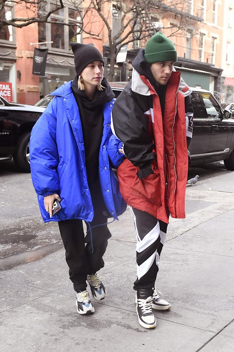 a27776348d497e Justin Bieber and Hailey Baldwin are photographed today while out for lunch  in New York City