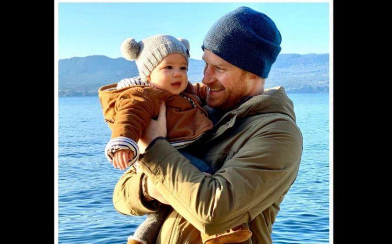 Prince Harry and his young son Archie wearing beanies in Canada.